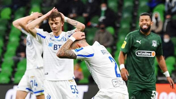 «Гол следовало отменить». Эксперт — о победном мяче Тюкавина в матче «Краснодар» — «Динамо»