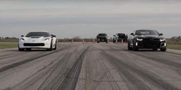 Теория невероятности: Chevrolet Camaro ZL1 сильно удивит владельцев Corvette Z06