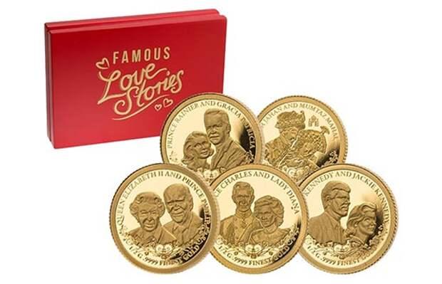 Монеты с историями любви, запечатленными Кот-д'Ивуар в золоте