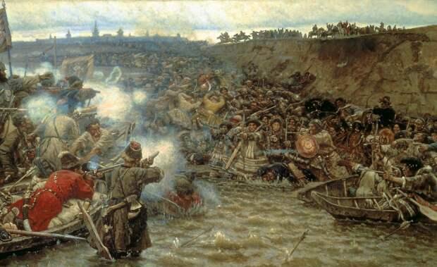 Столкновение русских первопроходцев и чукчей. Изображение взято из открытых источников
