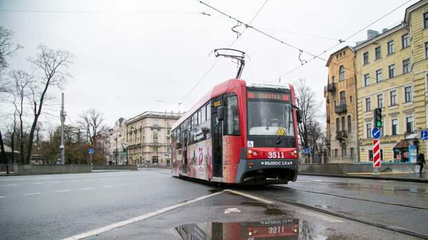 Петербуржцев предупредили об изменении движения трамваев по проспекту Науки