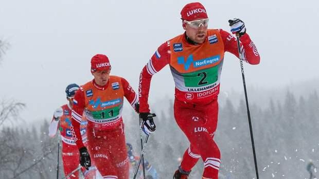 У второй сборной России бронза в мужской эстафете на этапе КМ, первую команду дисквалифицировали из-за Большунова