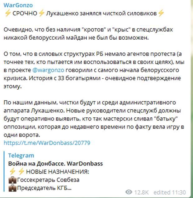 """""""Кто так мастерски сливал Батьку?"""": Лукашенко зачистил силовиков после скандала с """"33 богатырями"""""""