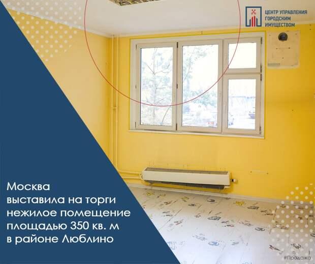 В Москве выставлено на продажу нежилое помещение в Люблино