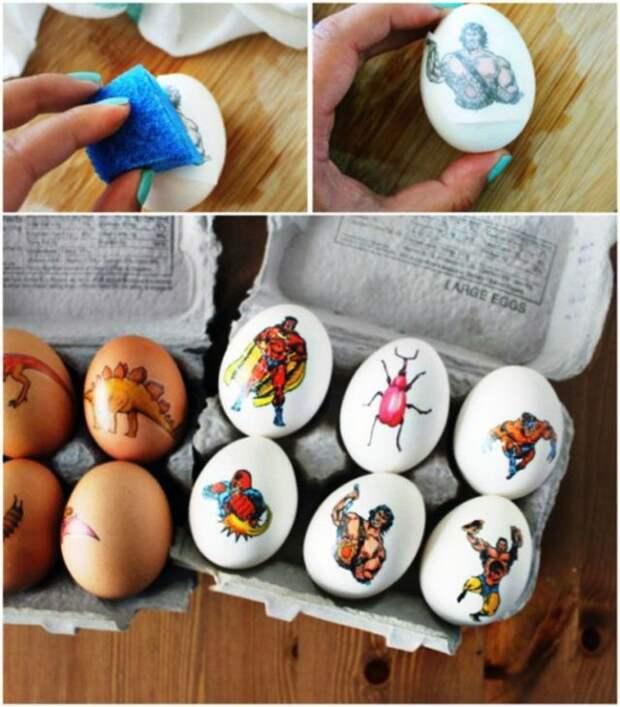 переводные тату на яйцах