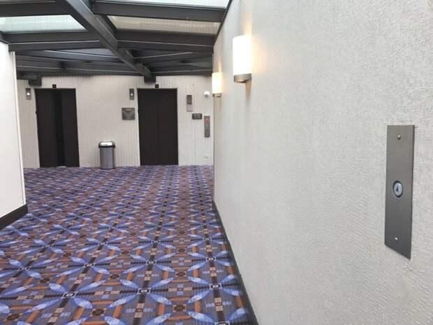 9. Кнопка вызова лифта в начале коридора, чтобы к тому моменту, как вы подойдете, двери уже открылись быт, жизнь, идея, изобретение, мир, подборка, фото