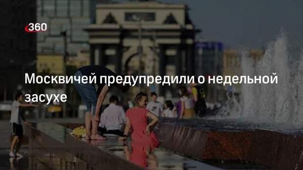 Москвичей предупредили о недельной засухе