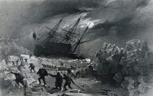 Часть моряков погибла в результате отравления свинцом, остальные сгинули во льдах, отправившись за помощью.