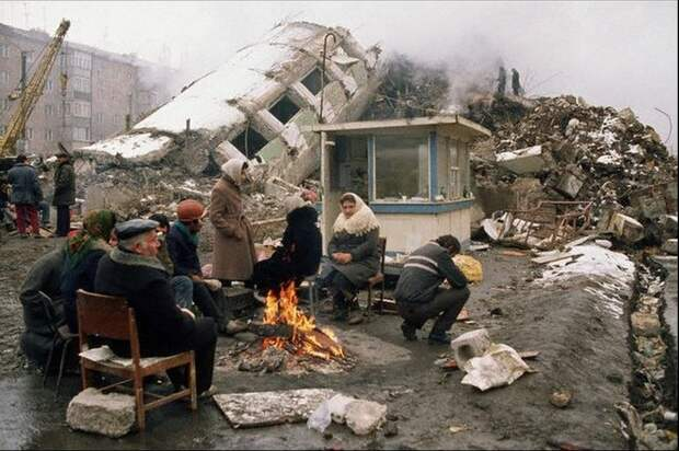 Землетрясение в Спитаке. Армения.