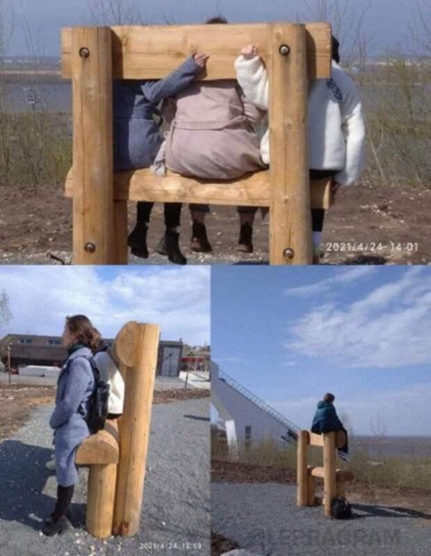 Нечтобы сидеть: Нижегородцам объяснили назначение «лавочек» возле канатной дороги