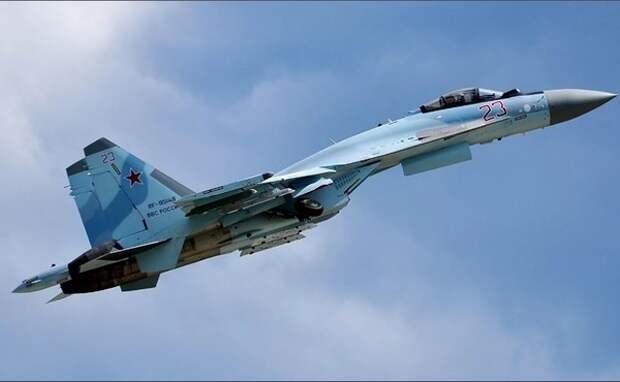 Американские военные заявили о небезопасном перехвате самолёта российским Су-35