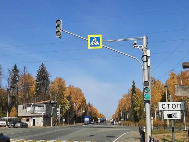 На Объездной Ижевска в тестовом режиме заработали светофор и камеры