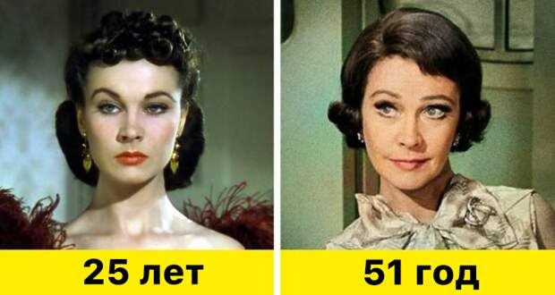 """10. Вивьен Ли - """"Унесенные ветром"""" (1939) и """"Корабль дураков"""" (1965)"""