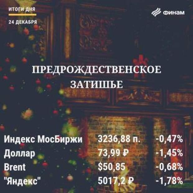 Итоги четверга, 24 декабря: Фондовые рынки ослабили накануне Рождества