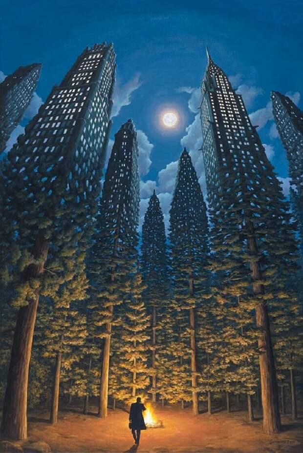 25 оптических иллюзий от Роба Гонсалвеса