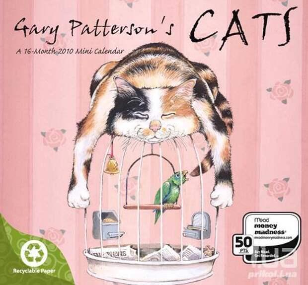 Коты Gary Pattreson - коты, художник