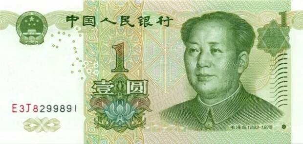 Деньги Китая 1999 года: Товарищ Мао.