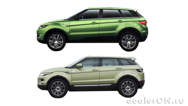 Land Rover планирует акции против вопиющих китайских копий Evoque