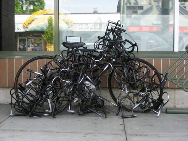 Теперь никто не сможет угнать мой велосипед параноик, паранойя, прикол