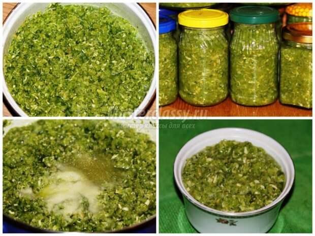 Вкусная зеленая аджика на зиму без варки – изумительный аромат и вкус