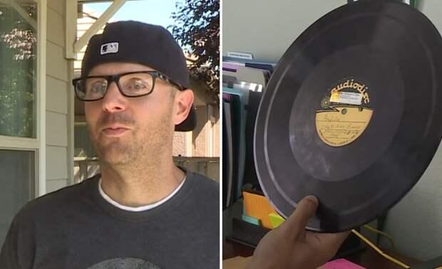 Внук нашел пластинки с военными песнями, исполненными его дедом на поле боя