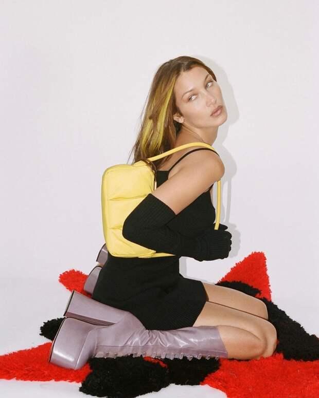 Выше всех: Белла Хадид возвращает в моду обувь на платформе