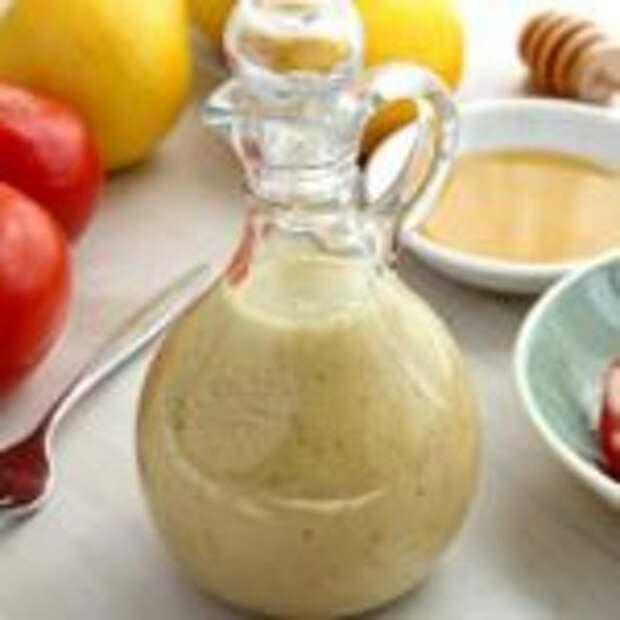 Медово-горчичный соус – находка для овощных салатов