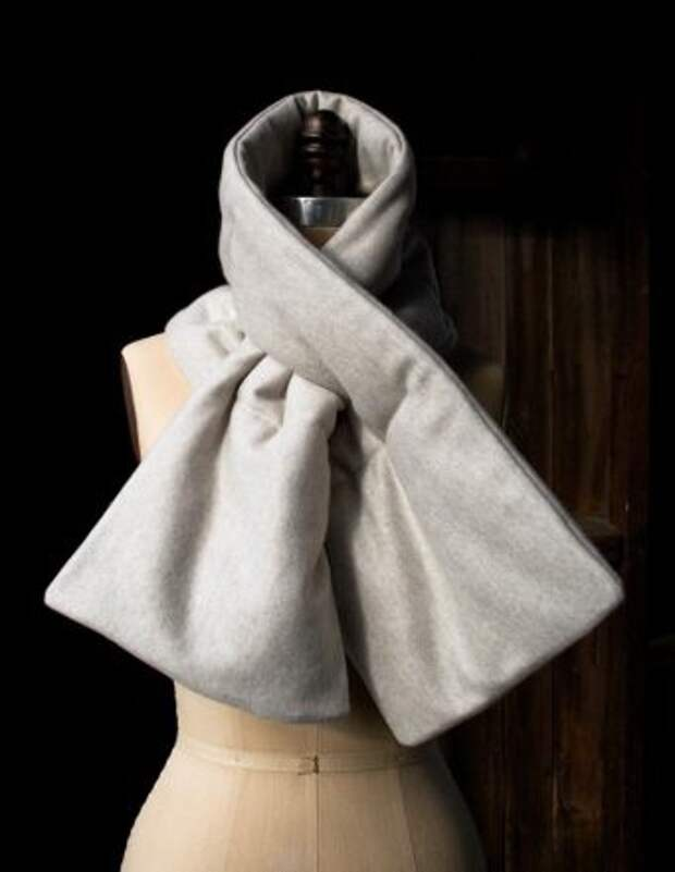 как сшить стеганый теплый шарф