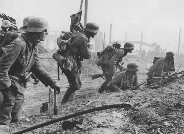 В каких случаях немцы шли в атаку, как на параде