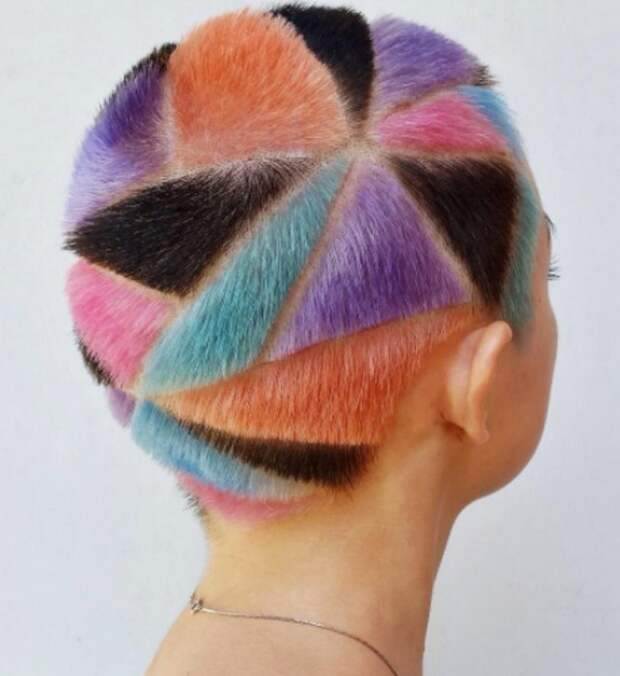 Rainbow Hair Carving  (подборка)