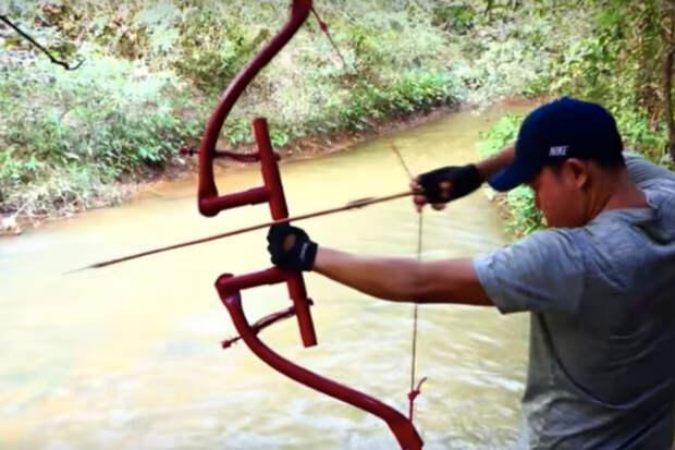 Мощный лук для охоты: делаем из пластиковых труб