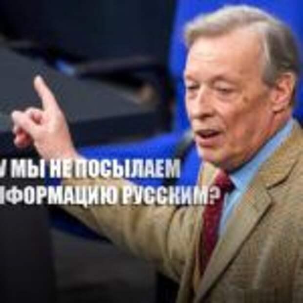 «Считаете русских тупыми?»: Депутат бундестага возмутился ситуацией с Навальным
