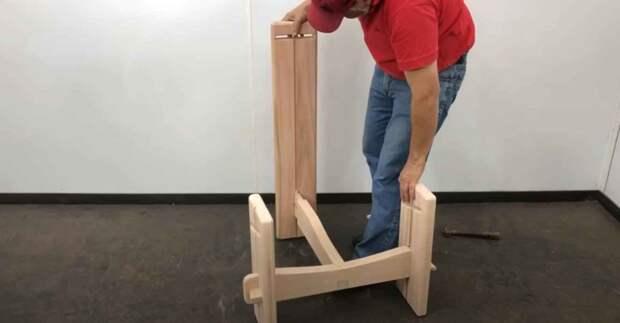 Как сделать удобное садовое кресло на трех ножках