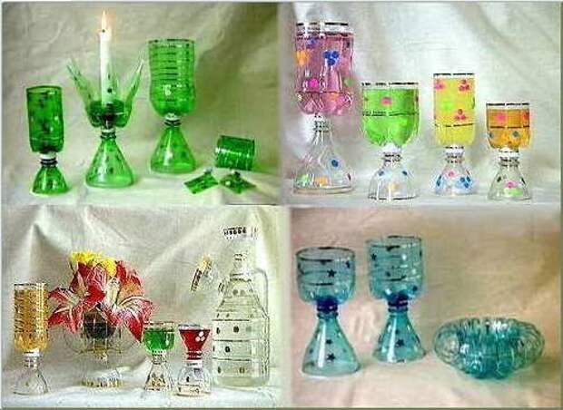 стаканчики из пластиковых бутылок