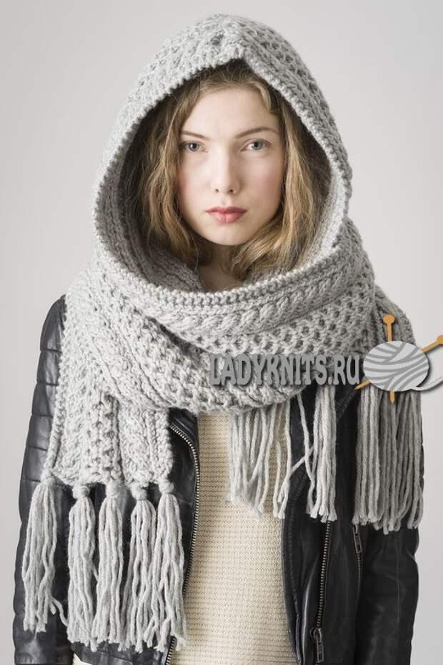 Капюшоны с шарфом (подборка)