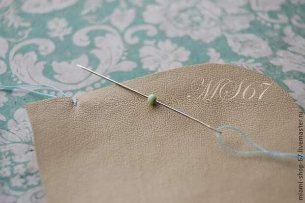 Красивая вышивка бисером края изделия 3