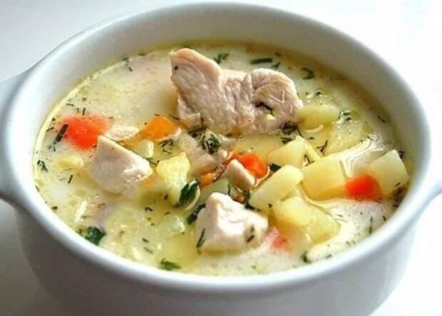 Картофельно-сырный суп с курочкой. Сытный и ароматный обед без особых усилий 2