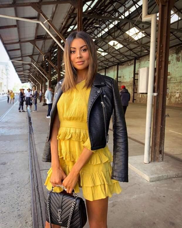 модный летние образы в желтом цвете фото 6