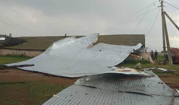 ВТатарстане из-за сильного ветра сорвало крышу сфермы ичастных домов