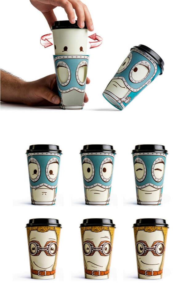 Эмоциональные кофейные стаканы.