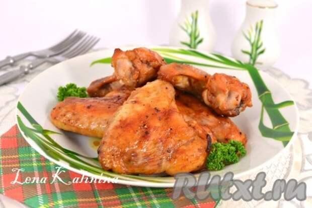 Куриные крылышки в медовом соусе в духовке