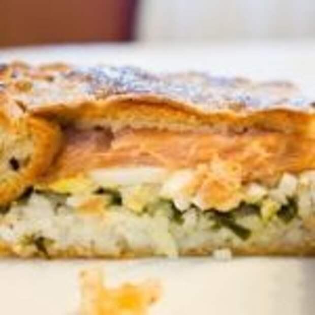 Диетический пирог с рыбой и яйцом