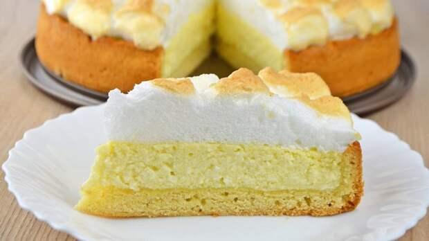 Быстрый пирог с творогом и яблоками