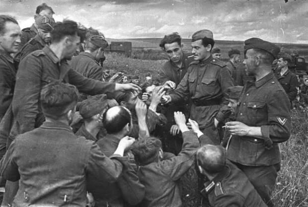 К каким пленным немецким солдатам красноармейцы относились с уважением