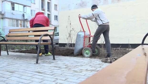 В Симферополе завершают ремонт двух дворов по улицам Кржижановского и Донская