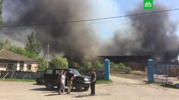 В Ульяновской области загорелись склад и 5 домов: видео