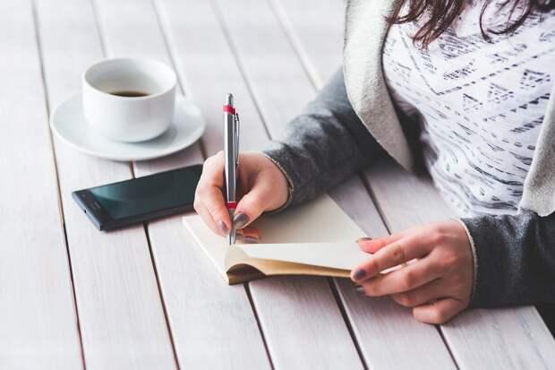 Женщина, Написать, Блокнот, Девочка, Женщины, Рука