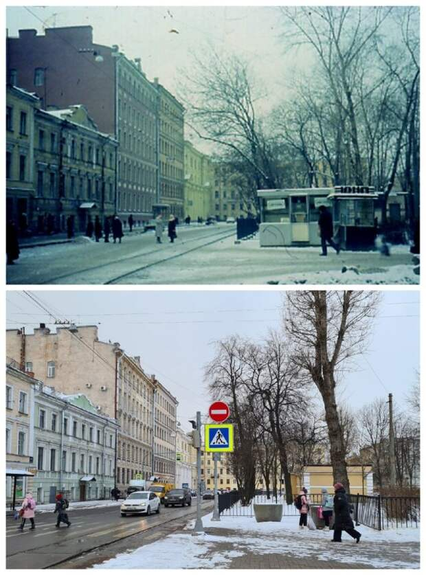 Фотографии Петербурга-Петрограда из серии «было/стало»