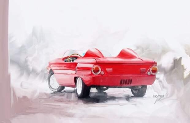 ЗАЗ 968 С Лодочка авто, автодизайн, автомобили, дизайн, фотомонтаж, фотошоп, юмор, янгтаймер