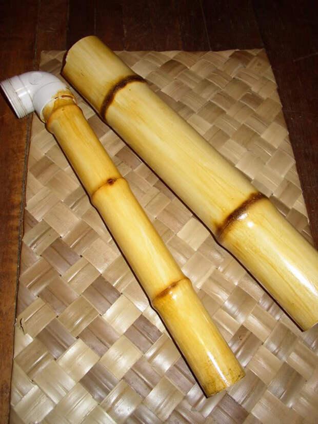 Как сделать почти настоящий бамбук из  труб ПХВ. И где его использовать